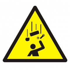 Warning; Falling objects