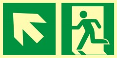 Direction to emergency exit – up to the left