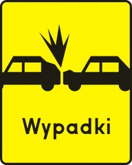 Plate indicating a spot of frequent collisions with the leading up vehicles