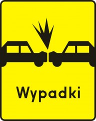 Plate indicating a spot of frequent head-on collisions