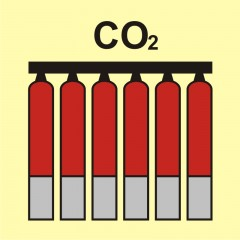 Fixed fire-extinguishing battery (CO2-carbon dioxide)