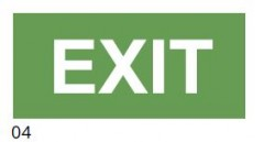 EXIT – pictogram for the IF2 lamp