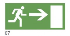 The direction of the evacuation route to the right - pictogram for the IF2 lamps