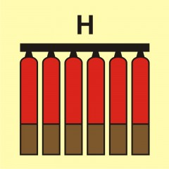 Fixed fire-extinguishing battery (H-gas)