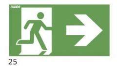 The direction of the evacuation route to the right - pictogram for the ETE & ARN lamps