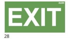 Additional pictogram - EXIT - pictogram for the ETE & ARN lamps
