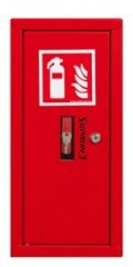 Fire extinguisher cabinet for 2 kg fire extinguishers