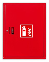 Fire extinguisher cabinet for 2x6kg fire extinguishers