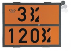 Plates for the transportation units carrying hazardous goods – universal, rotatable