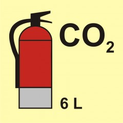Fire extinguisher (CO2-carbon dioxide) 6L