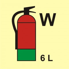 Fire extinguisher (W-water) 6L