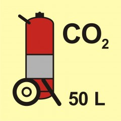 Wheeled fire extinguisher (CO2-carbon dioxide) 50L