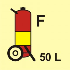 Wheeled fire extinguisher (F-foam) 50L