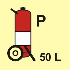 Wheeled fire extinguisher (P-powder) 50L