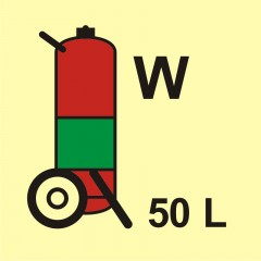 Wheeled fire extinguisher (W-water) 50L
