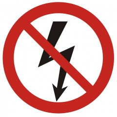 Do not launch electrical devices