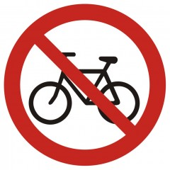 No entry on a bike