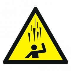 Warning; Falling ice