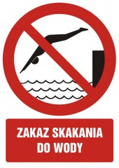 Zakaz skakania do wody