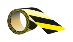 self-adhesive tape to the floor, length 33 m x width 10 cm black - yellow